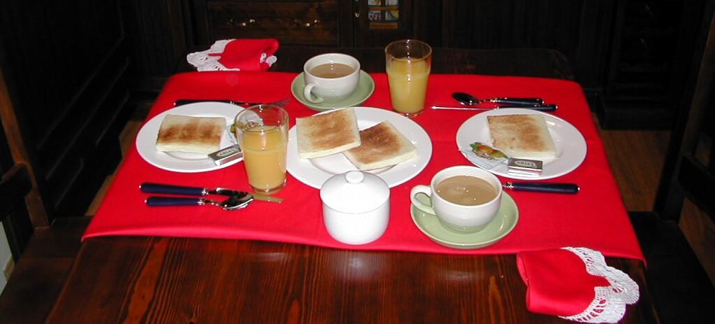 Desayuno día de llegada